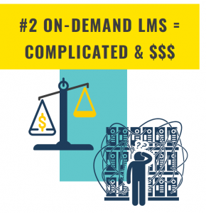 #2 On-Demand LMS = Complicated & $$$